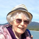 Aunty Diana, on her birthday, four years ago, just north of Cairns.