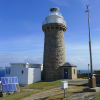 The electronic probes and liquid-in-glass thermometers are housed in the white box (the Stevenson screen) in the foreground of this picture of Wilsons Promontory lighthouse.  It is unfortunate that solar panels have been installed such that they are facing the box with the thermometers - I have complained about this in previous correspondence.  This photograph was taken by Daynaa (daynaa2000.wordpress.com) with permission to republished requested in 2015.