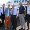 From left to right: Max Rheese, Senator David Leyonhjelm, Jennifer Marohasy, Senator Bob Day, the pilot (Chris), and Senator Matt Canavan.